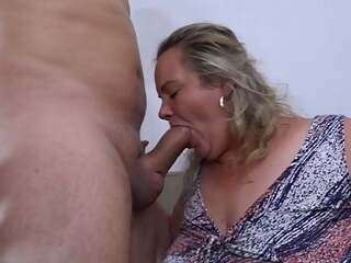Big titty granny with boyfriend