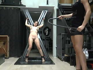 Lesbian Mistress - Hard Frontal Whipping