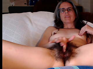 Hairy pussy and armpits mature fingering