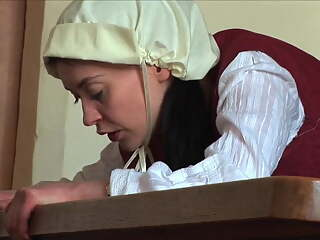Young maid caned