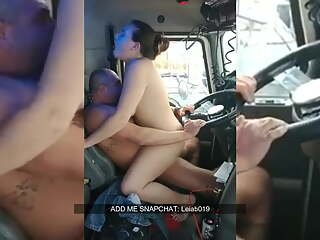 MILF Fucking Old Man in Truck