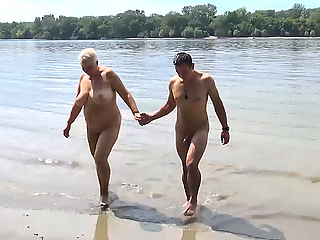 stepson fucks mom on public beach