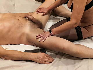Massage with blow job