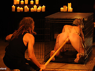 Ava Mir-Ausziehen & Mistress Irony in Kat In A Cage - KINK