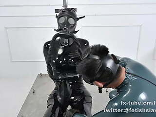 BREATHPLAY AND BONDAGE AND FEMDOM THE RUBBER SLAVE GIRL