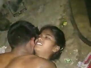 Most Beautiful Indian Girl Outdoor Threesome Hard Fucked