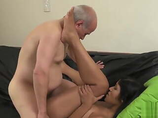 Old Grandfather Fucks Young Horny Bride