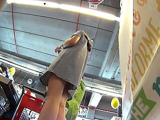 European teen upskirt