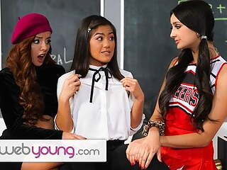WebYoung Threesome Fun During Detention With Eliza Ibarra