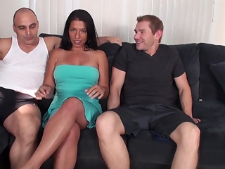 Alexis gets her pussy filled with cum from Tony and Alex