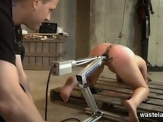 Machine Molestation For Submissive Blonde
