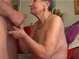 GRANNY PLAYS THE SKIN FLUTE
