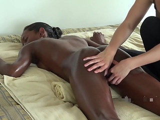 SUPER HOT MASSAGE TO A BLACK TEEN PART 1