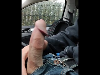 So Much Cum Dripping Down My Hand In The Car