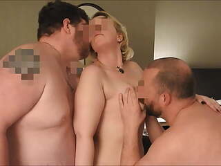 Filming Her Fucking Two Men in a Hotel Room