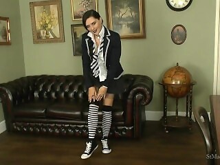St Mackenzie's - Pixiee Teases You with Her Socks While Stripping