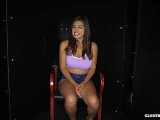 Ella Knox first gloryhole experience with a lot of cum