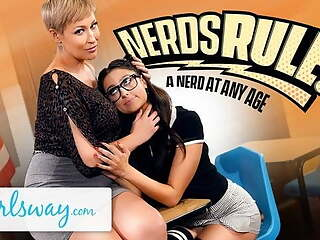 She Shows Her Student The Benefits Of Being A Nerd
