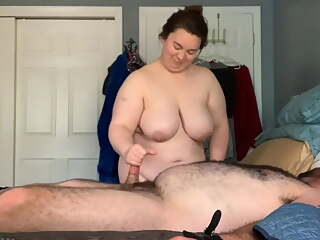 Tied up handjob bbw