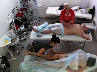 Mature woman and young girl on massage