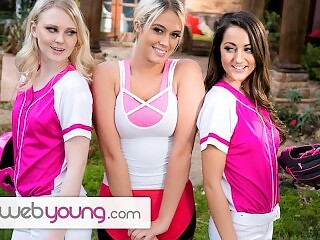 WebYoung Lily Rader's Softball Training Turns Into Hot Teens Threesome