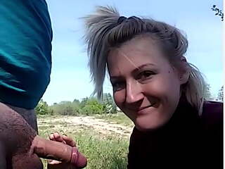 Hot Milf Outdoor Blowjob And Cumshot