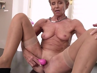 Fantasy Granny Romana Riding Solo