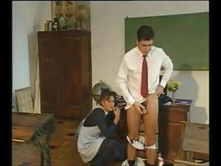 Hot young schoolgirl fucked by the janitor