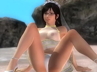 Dead or Alive 5 1.09 - Kokoro Pole Dancing on the Beach w/ Sexy Outfits #1