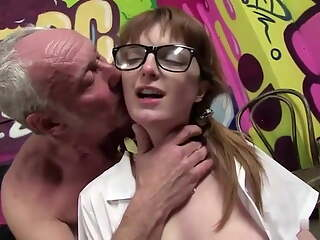 Dirty Old man fucks schoolgirl Lola Gatsby