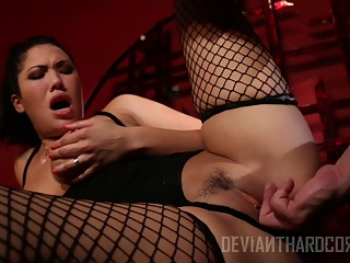 London Keyes finds herself bound and blindfolded at the start of this kinky bondage sex scene. London's master gets her senses tingling with some flogging before letting her feast on his cock, getting it nice and wet before sliding inside her until he's ready to blow a load all over her eager face.