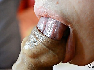 Sensitive licking and sucking foreskin -Cumshot inside foreskin Day 5 M&M