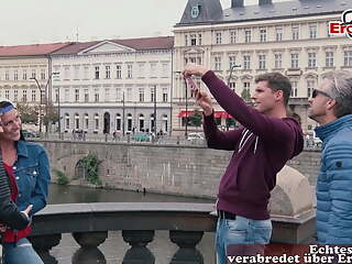GERMAN HORNY GIRLS PICK UP GUY IN PUBLIC AND FUCK HIM HOME