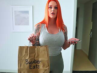 FUCKING THE UBER EATS DELIVERY GIRL