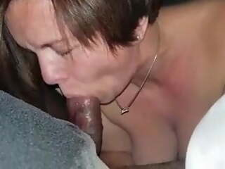 Sucking my cock in hotel room
