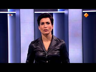 Annechien Steenhuizen in leather blouse