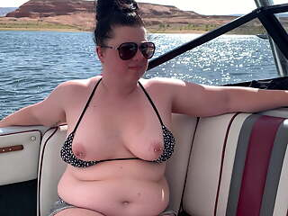 Tits out on the boat