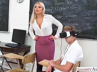 Blonde Teacher,Nina Elle