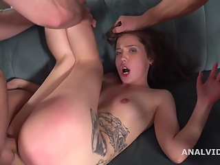 Stasia Si 3on1 Balls Deep Anal, DAP, Gapes, Manhandle and Swallow GL175