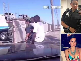 Policewoman forced to suck gangsta
