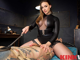 Now that's a cruel mistress. You've been kept in the basement for long enough, and your mistress Chanel Preston has decided that you're finally ready to