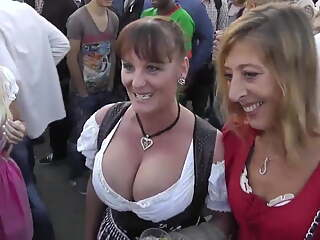 Busty Mature at Oktoberfest