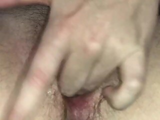 Teen girl play with very wet and tight pussy. Cums so hard