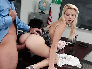 Petite Blonde High School Teen Fucked To Orgasm By Teacher