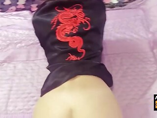 Sexy karate girl was fucked all her holes!
