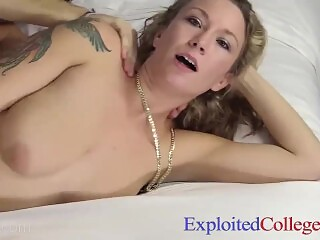 21 yo Real Double DD Coed Candice Gets Totally Exploited On EXCOGI Cam!