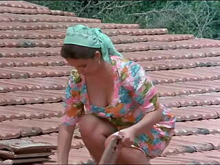 Retro film, movie, funny legs upskirt, hot milf, dress, wife, babe