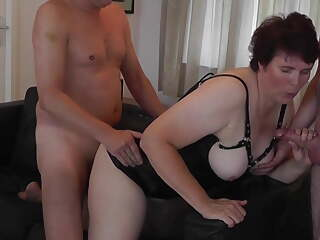Cheating housewife has orgasms in wife sharing gangbang