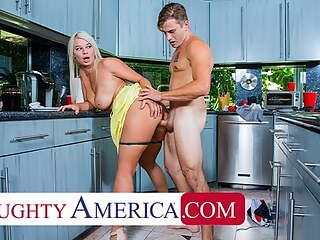 Naughty America - London River sneaks quickie with her son's