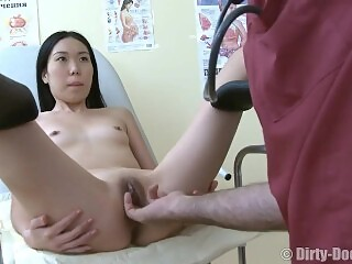Young asian slut anal fucked by the doctor